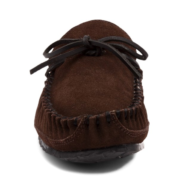 alternate view Mens Minnetonka Casey Slipper - ChocolateALT4