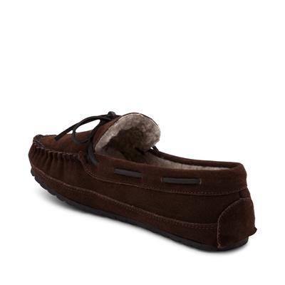 Alternate view of Mens Minnetonka Casey Slipper - Chocolate