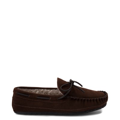 Main view of Mens Minnetonka Casey Slipper - Chocolate