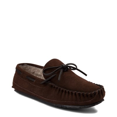 Alternate view of Mens Minnetonka Casey Slipper - Chocolate