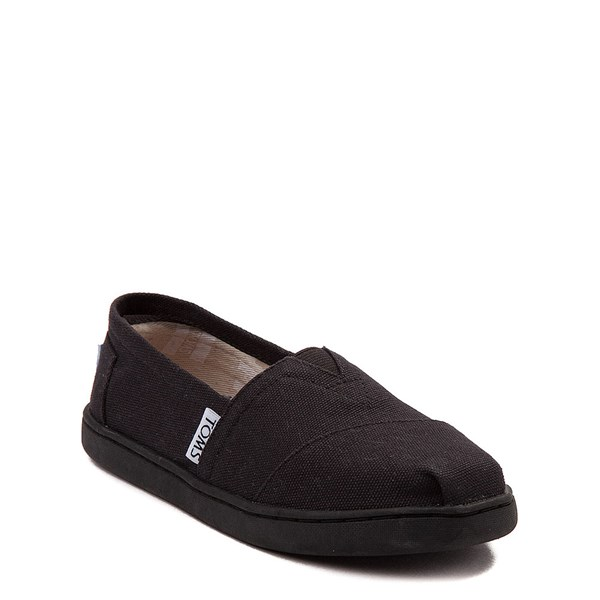 alternate view TOMS Classic Slip On Casual Shoe - Little Kid / Big Kid - BlackALT1