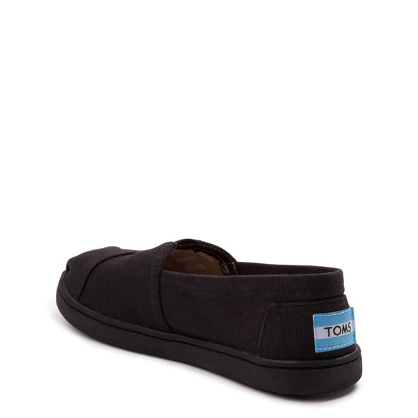 alternate view TOMS Classic Slip On Casual Shoe - Little Kid / Big Kid - BlackALT2