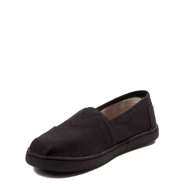 alternate view TOMS Classic Slip On Casual Shoe - Little Kid / Big Kid - BlackALT3