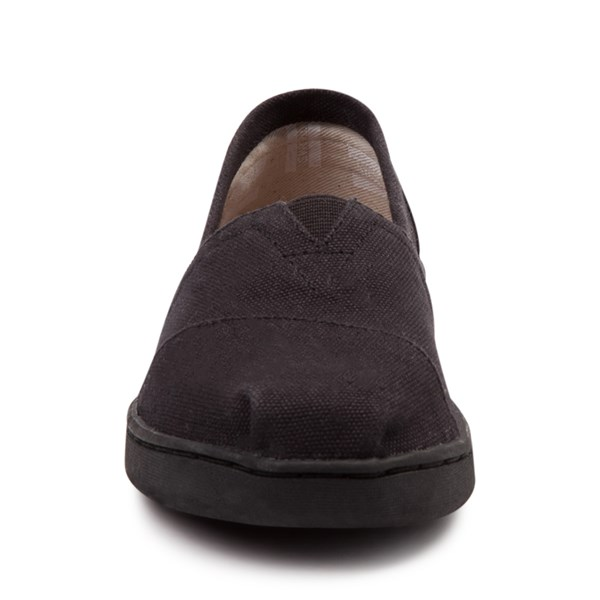 alternate view TOMS Classic Slip On Casual Shoe - Little Kid / Big Kid - BlackALT4