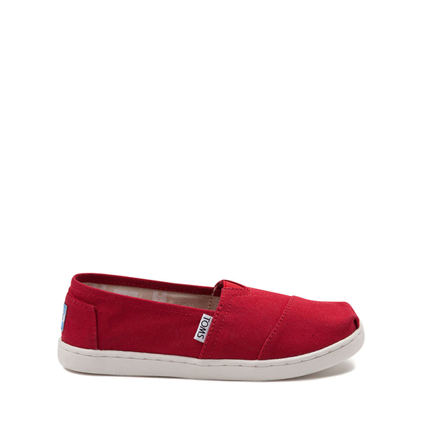 Main view of TOMS Classic Slip On Casual Shoe - Little Kid / Big Kid - Red