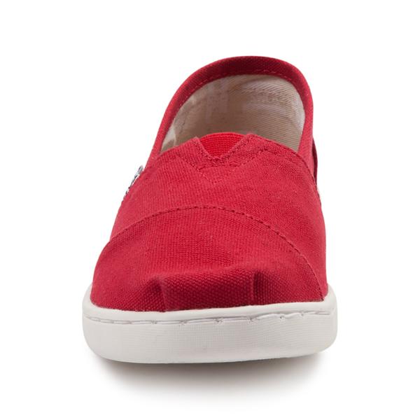 alternate view TOMS Classic Slip On Casual Shoe - Little Kid / Big Kid - RedALT4