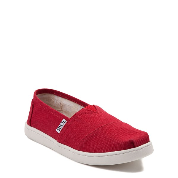 alternate view TOMS Classic Slip On Casual Shoe - Little Kid / Big Kid - RedALT1