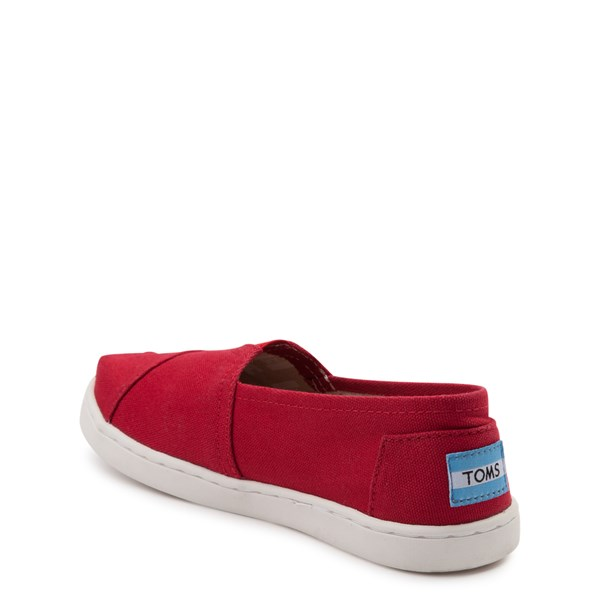 alternate view TOMS Classic Slip On Casual Shoe - Little Kid / Big Kid - RedALT2