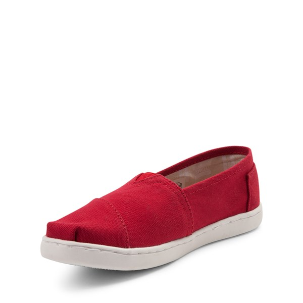 alternate view TOMS Classic Slip On Casual Shoe - Little Kid / Big Kid - RedALT3