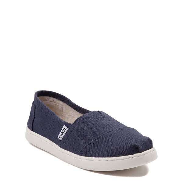 alternate view TOMS Classic Slip On Casual Shoe - Little Kid / Big Kid - BlueALT1