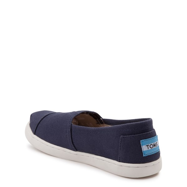 alternate view TOMS Classic Slip On Casual Shoe - Little Kid / Big Kid - BlueALT2