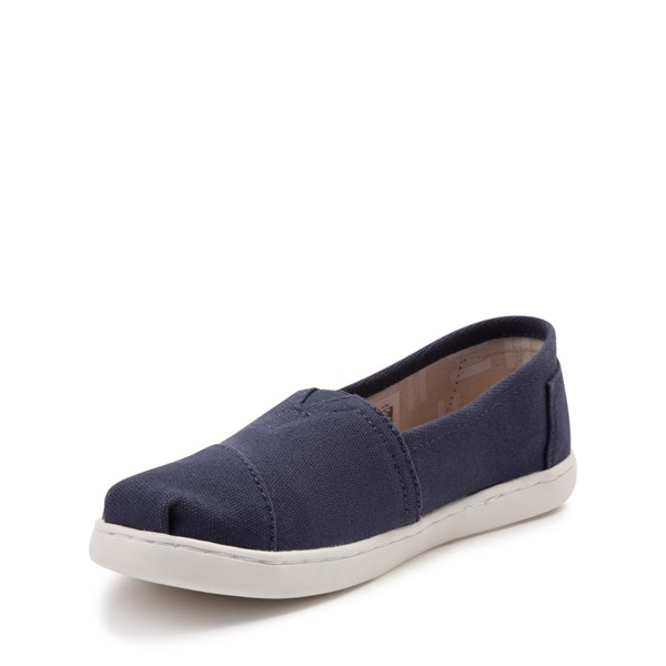 alternate view TOMS Classic Slip On Casual Shoe - Little Kid / Big Kid - BlueALT3