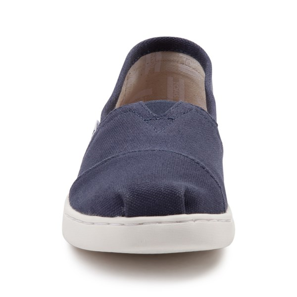 alternate view TOMS Classic Slip On Casual Shoe - Little Kid / Big Kid - BlueALT4
