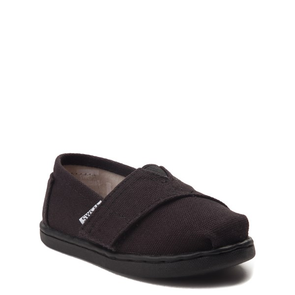 alternate view TOMS Classic Slip On Casual Shoe - Baby / Toddler / Little Kid - Toddler - BlackALT1