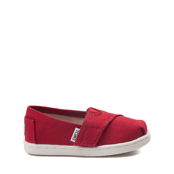 Main view of TOMS Classic Slip On Casual Shoe - Baby / Toddler / Little Kid - Red
