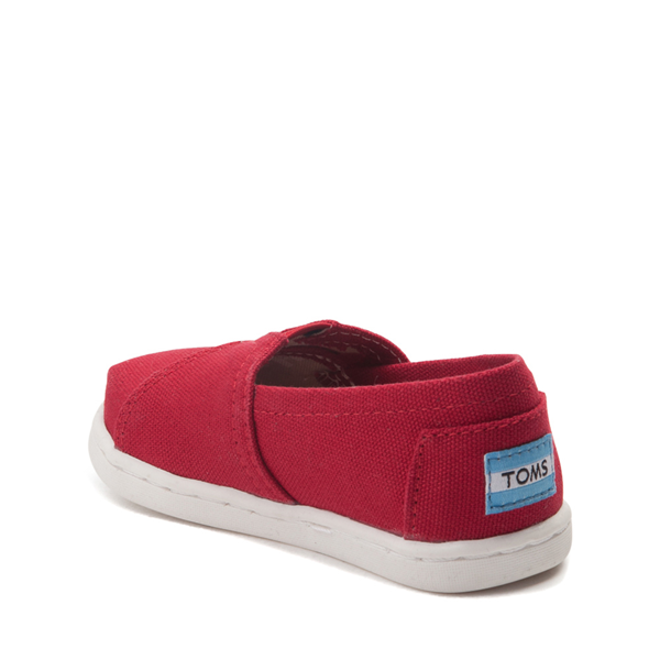 alternate view TOMS Classic Slip On Casual Shoe - Baby / Toddler / Little Kid - RedALT1