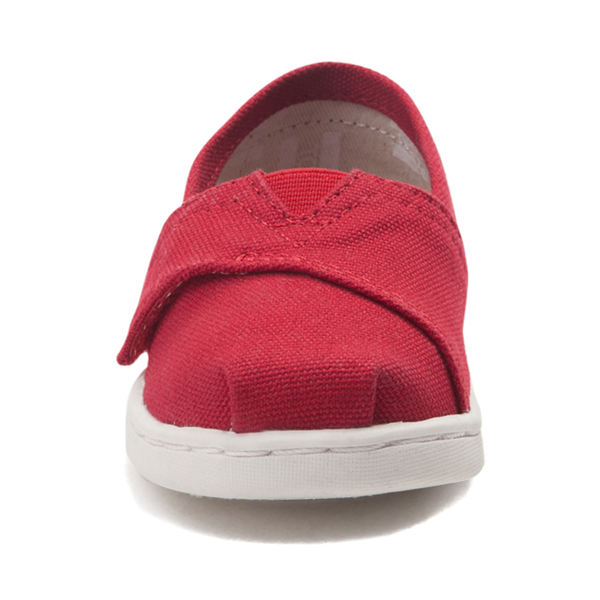 alternate view TOMS Classic Slip On Casual Shoe - Baby / Toddler / Little Kid - RedALT4