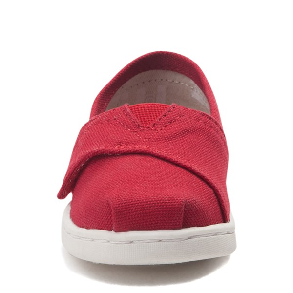 alternate view TOMS Classic Slip On Casual Shoe - Baby / Toddler / Little Kid - RedALT4