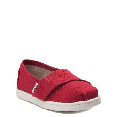 Alternate view of TOMS Classic Slip On Casual Shoe - Baby / Toddler / Little Kid - Red