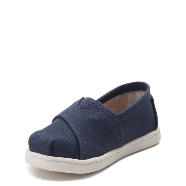 alternate view TOMS Classic Slip On Casual Shoe - Baby / Toddler / Little Kid - BlueALT2