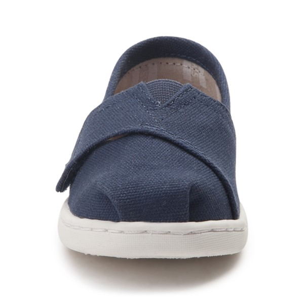 alternate view TOMS Classic Slip On Casual Shoe - Baby / Toddler / Little Kid - BlueALT4