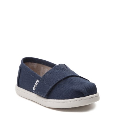 Alternate view of TOMS Classic Slip On Casual Shoe - Baby / Toddler / Little Kid - Blue
