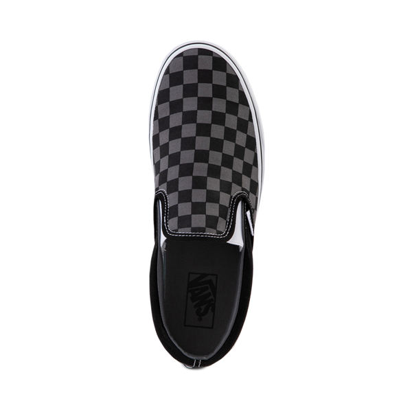 alternate view Vans Slip On Checkerboard Skate Shoe - Gray / BlackALT2