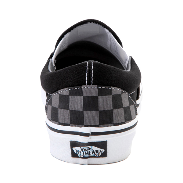 alternate view Vans Slip On Checkerboard Skate Shoe - Gray / BlackALT4
