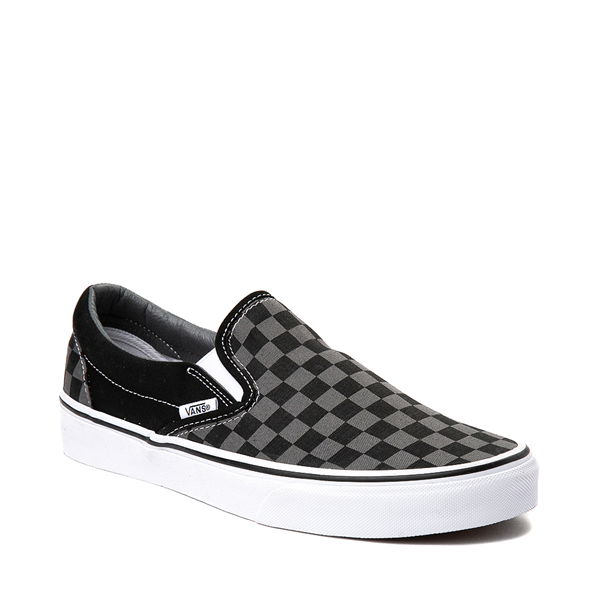 alternate view Vans Slip On Checkerboard Skate Shoe - Gray / BlackALT5