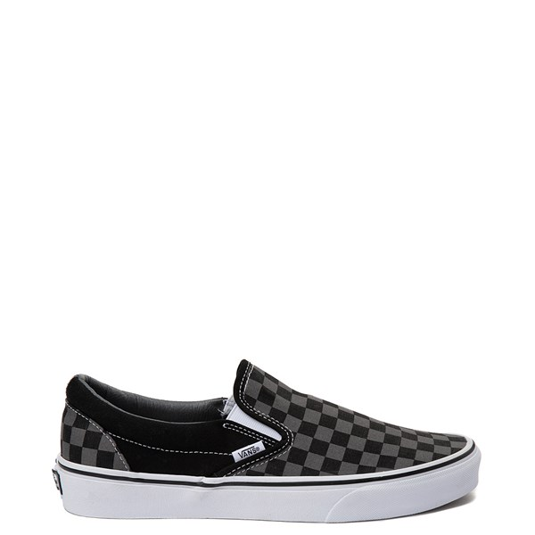 Default view of Vans Slip On Checkerboard Skate Shoe - Gray / Black