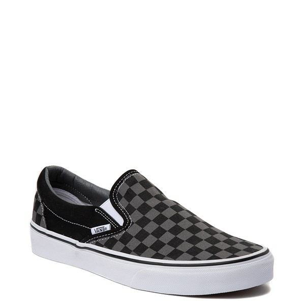 alternate view Vans Slip On Checkerboard Skate Shoe - Gray / BlackALT1