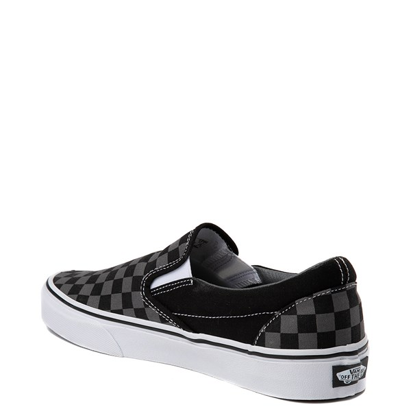 alternate view Vans Slip On Checkerboard Skate Shoe - Gray / BlackALT3