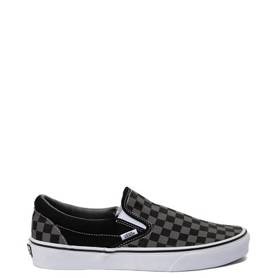 Main view of Vans Slip On Gray and Black Chex Skate Shoe