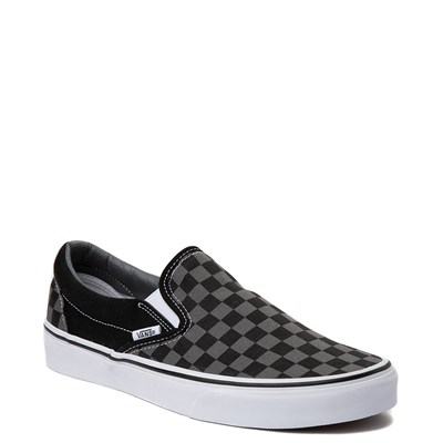Alternate view of Vans Slip On Gray and Black Chex Skate Shoe