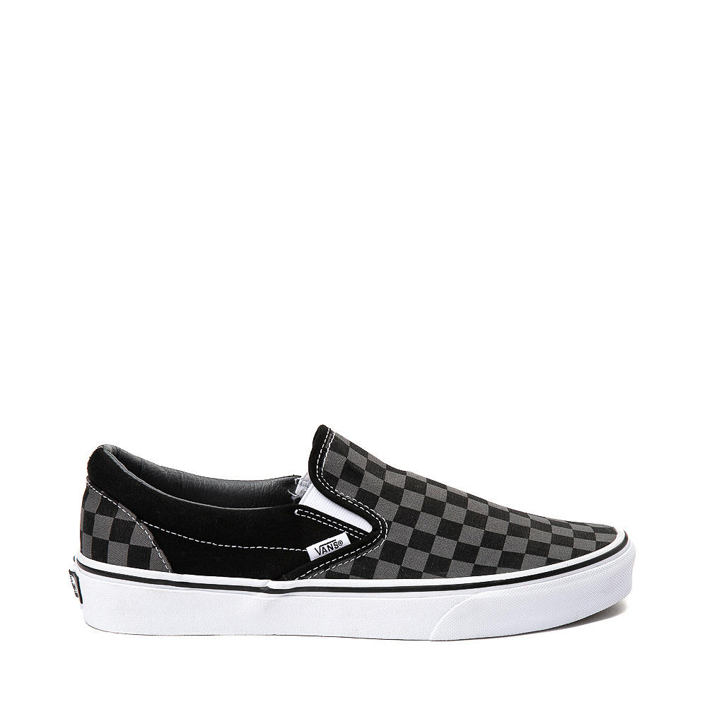 Vans Slip On Checkerboard Skate Shoe - Gray / Black