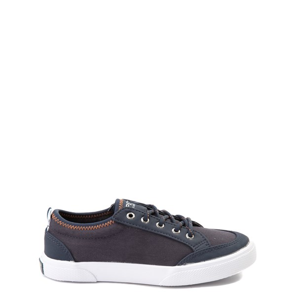 Default view of Sperry Top-Sider Deckfin Boat Shoe - Little Kid / Big Kid - Navy / Orange