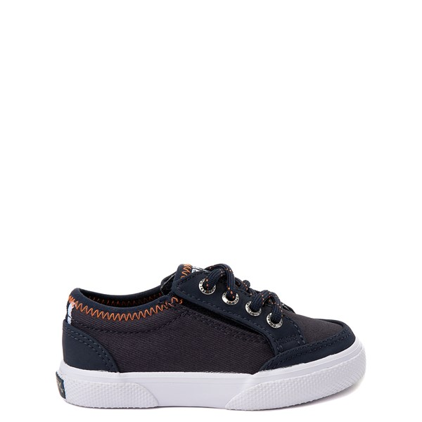 Sperry Top-Sider Deckfin Boat Shoe - Toddler / Little Kid - Navy / Orange