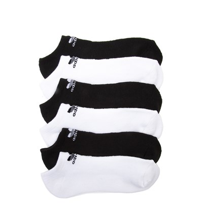 Main view of adidas No Show Socks 6 Pack - Big Kid - Black / White