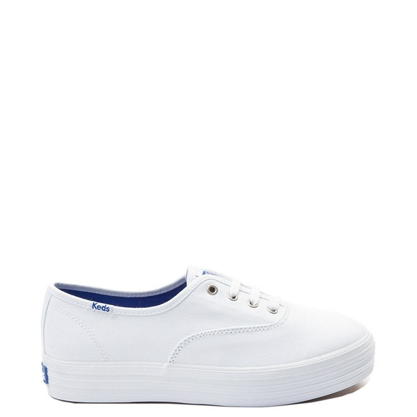 Womens Keds Triple Platform Casual Shoe - White Monochrome