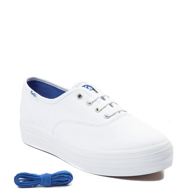 Alternate view of Womens Keds Triple Platform Casual Shoe - White Monochrome