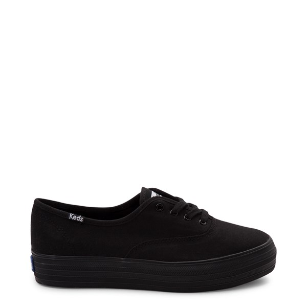 Womens Keds Triple Platform Casual Shoe - Black Monochrome