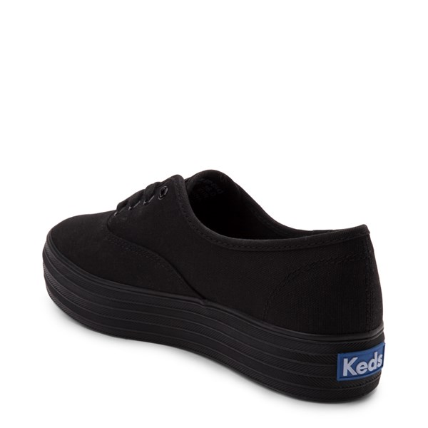 alternate view Womens Keds Triple Platform Casual Shoe - Black MonochromeALT2