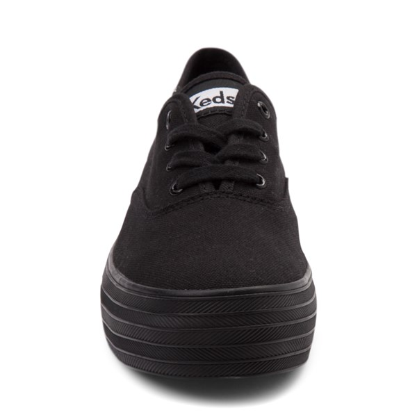 alternate view Womens Keds Triple Platform Casual Shoe - Black MonochromeALT4