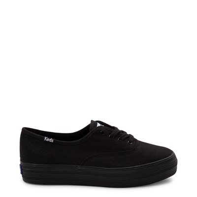 Main view of Womens Keds Triple Platform Casual Shoe - Black Monochrome