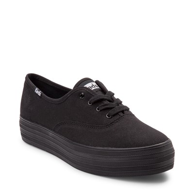Alternate view of Womens Keds Triple Platform Casual Shoe - Black Monochrome