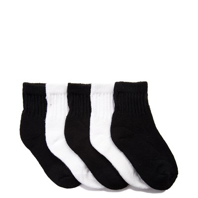 Main view of Quarter Top Crew Socks 5 Pack - Toddler