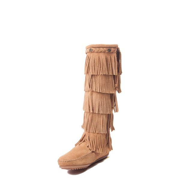 alternate view Womens Minnetonka 5 Layer Fringe BootALT3