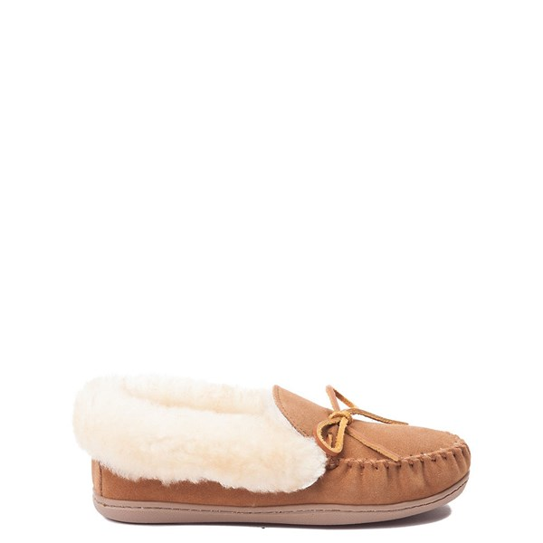 Womens Minnetonka Alpine Sheepskin Moc Casual Shoe - Tan
