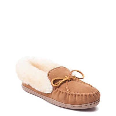 Alternate view of Womens Minnetonka Alpine Sheepskin Moc Casual Shoe - Tan