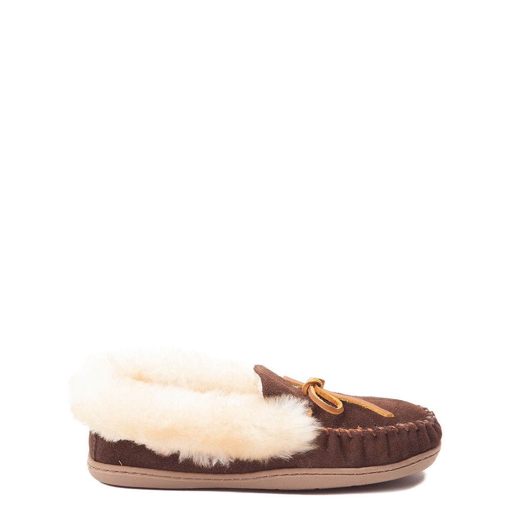 Womens Minnetonka Alpine Sheepskin Moc Casual Shoe